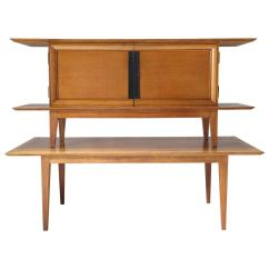 Japanese Table And Chairs Patio Bar Chair Plans Inspired Oak Credenza Dining By Colette