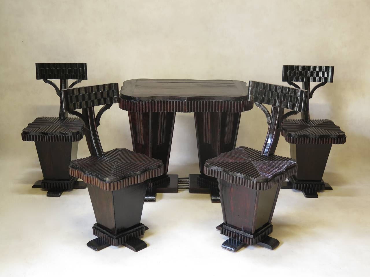Unusual Chairs Unusual Art Deco Table And Chair Set France 1930s For