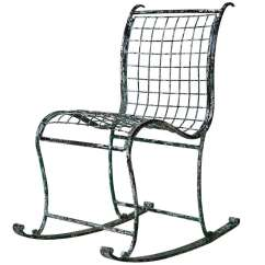 Wrought Iron Rocking Chair Rent Chairs And Tables For Cheap Unique France 1920s At 1stdibs Sale