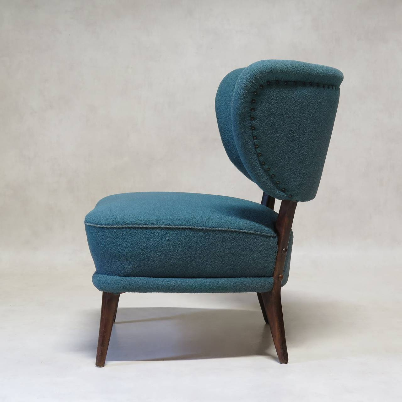 modern wingback chairs for sale office side pair of mid century slipper