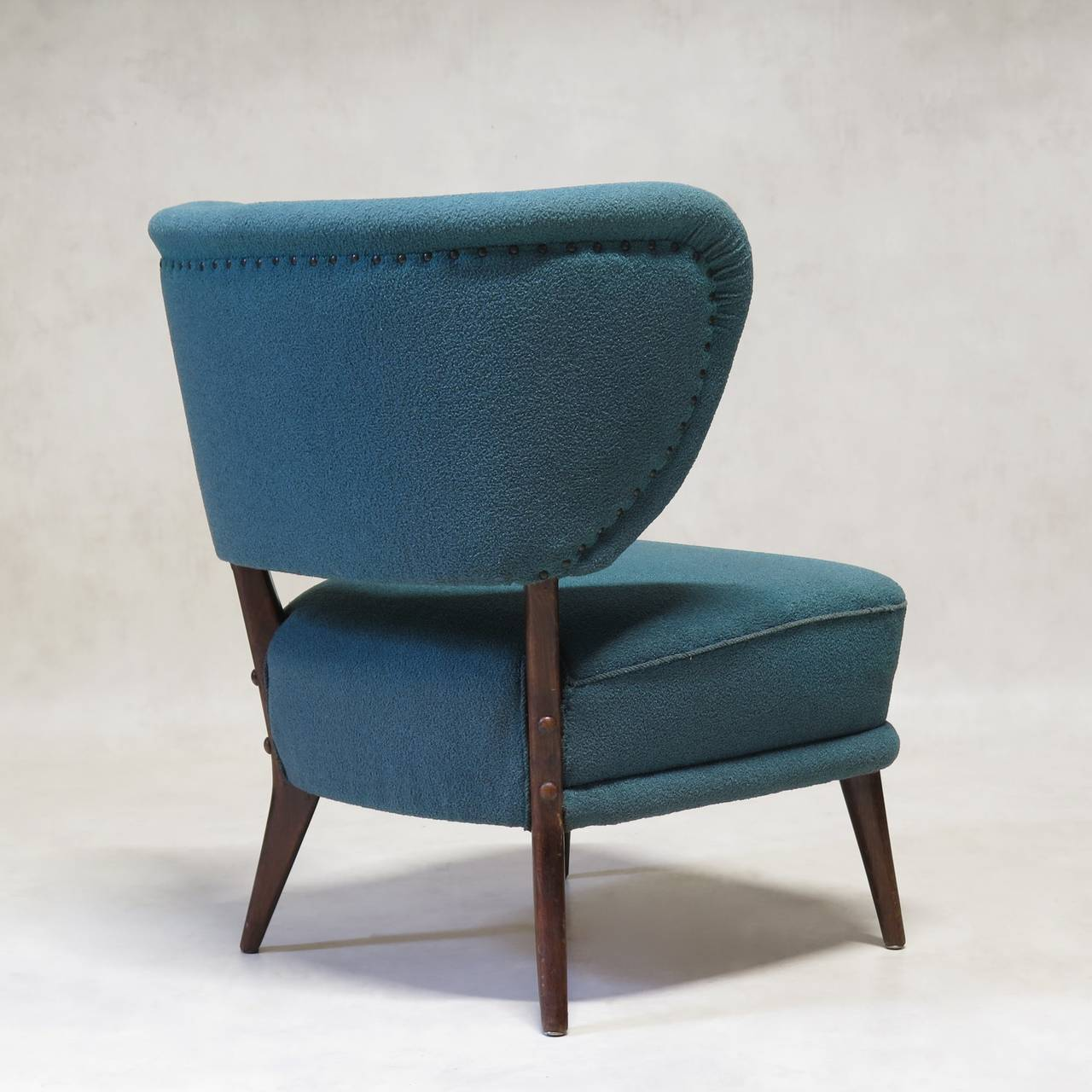modern wingback chairs for sale turquoise chair slipcover pair of mid century slipper