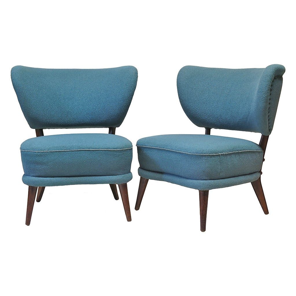 modern wingback chairs for sale surefit chair covers pair of mid century slipper