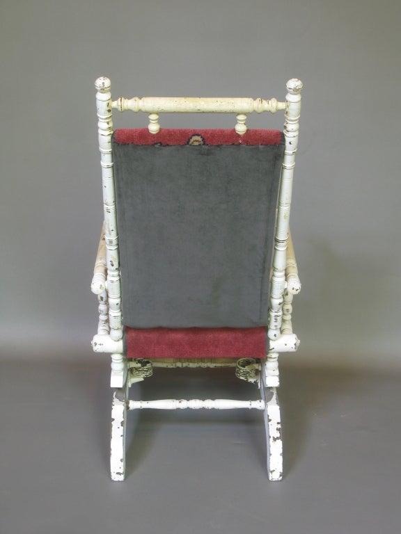 grey velvet slipper chair target vibrating baby french 19th century napoleon iii rocking at 1stdibs