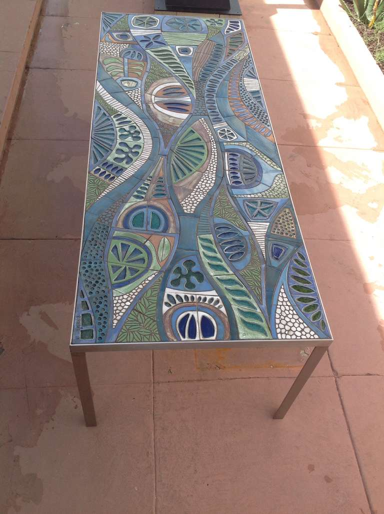 One Of A Kind Studio Ceramic Tile Dining Table Designed By