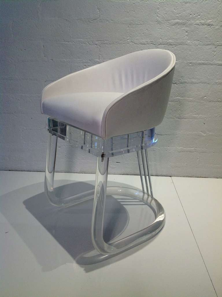 acrylic chair legs silver spandex covers set of four lion in frost dining chairs at 1stdibs mid century modern for sale