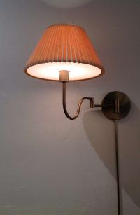 A pair of Brushed Brass Touch Control Wall Lamps by ...