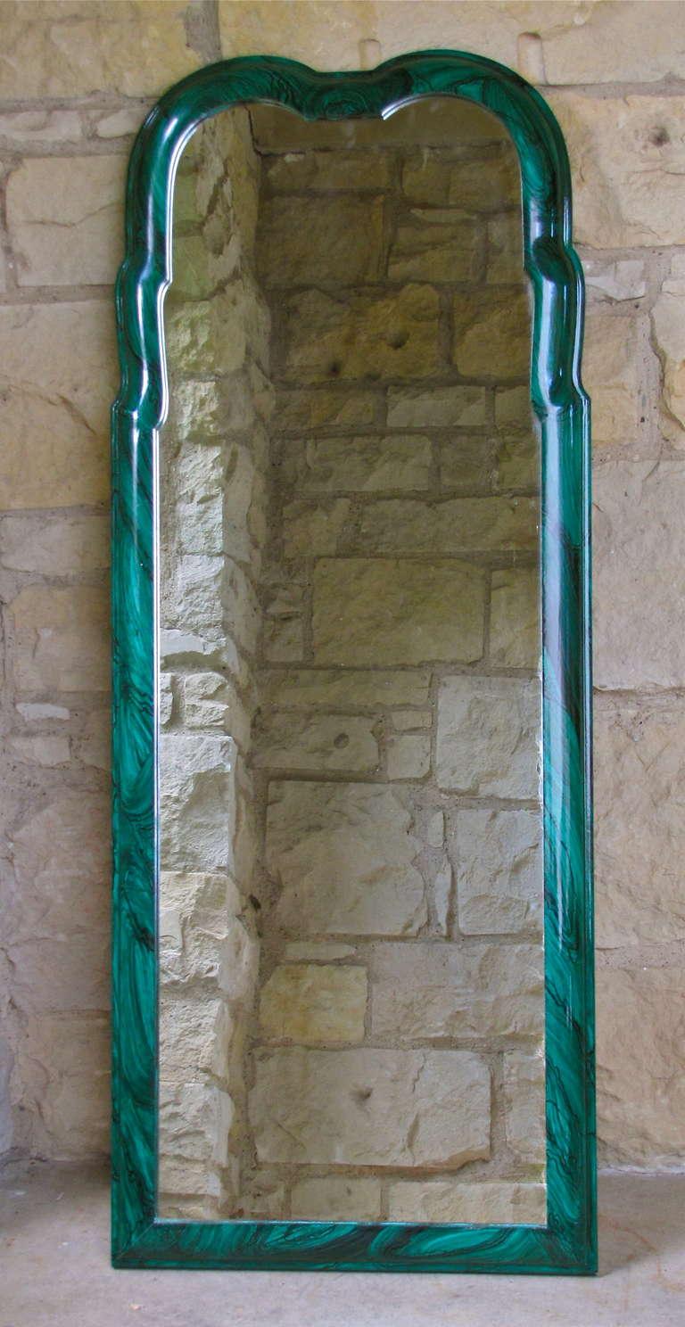 Italian Faux Malachite Wall Mirror For Sale At 1stdibs