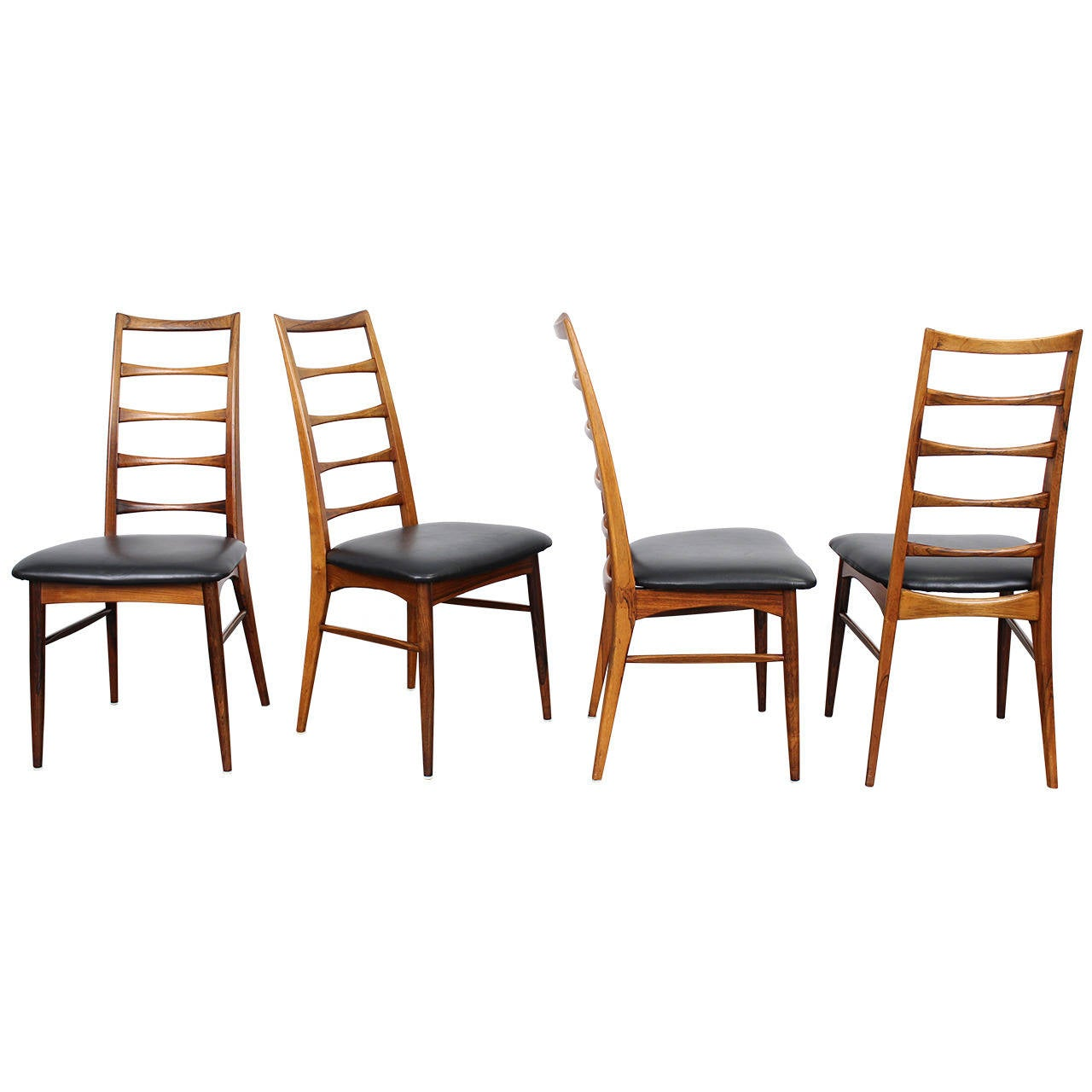 tall back dining chairs mechanical sex chair four rosewood by niels o moller