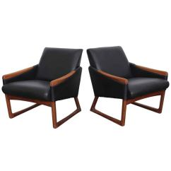Leather Chair Modern Sealy Posturepedic Office Mid Century Lounge Chairs At 1stdibs