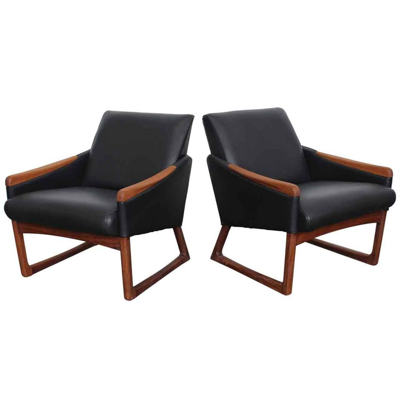 Modern Club Chairs Mid Century Modern Leather Lounge Chairs At 1stdibs