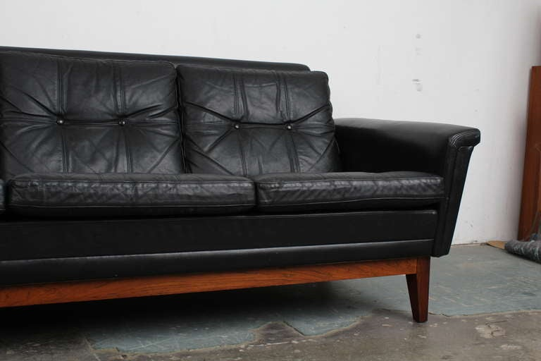 tufted sofa set miami fabric bed corner with storage vintage black leather mid century modern ...