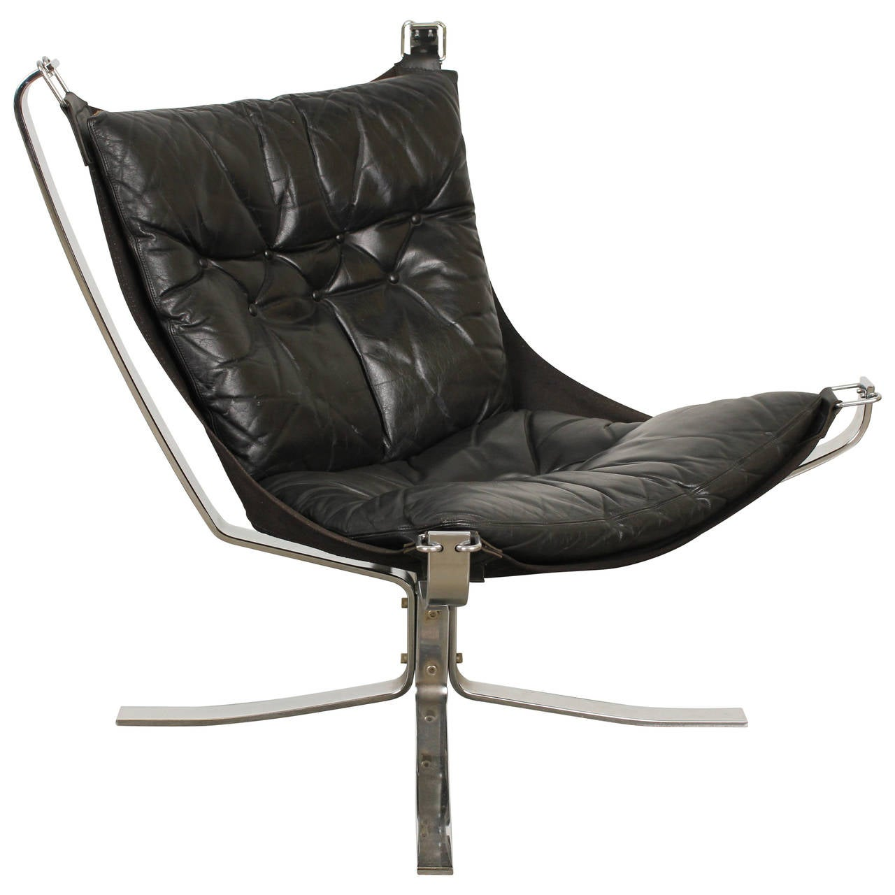 Falcon Chair Black Leather Falcon Chair By Sigurd Ressell