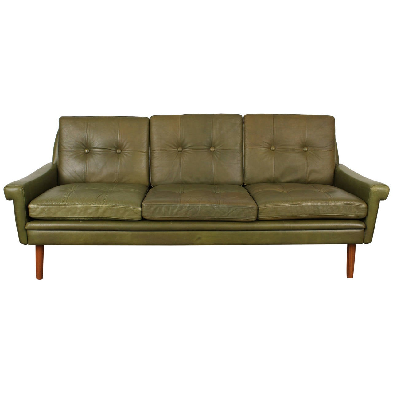 hollywood regency curved sofa battersea park road tufted mid century leather by skipper mobler at 1stdibs