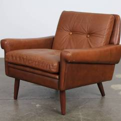Leather Chair Modern Lime Green Chairs Danish Brown By Skipper Mobler At 1stdibs