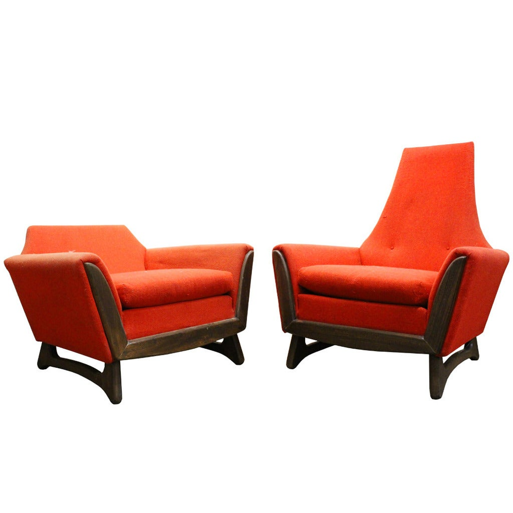 adrian pearsall rocking chair black adirondack chairs his and hers by for sale at 1stdibs