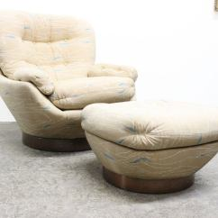 Swivel Club Chair With Ottoman Foldable Lounge Singapore And At 1stdibs