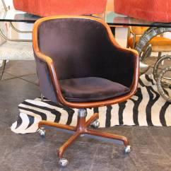 Office Chair Velvet Barber Waiting Chairs 1970s Desk By Ward Bennett At 1stdibs