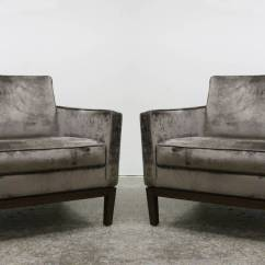 Grey Modern Armchairs Bedroom Chair Folding Pair Of Taupe Gray Velvet At 1stdibs