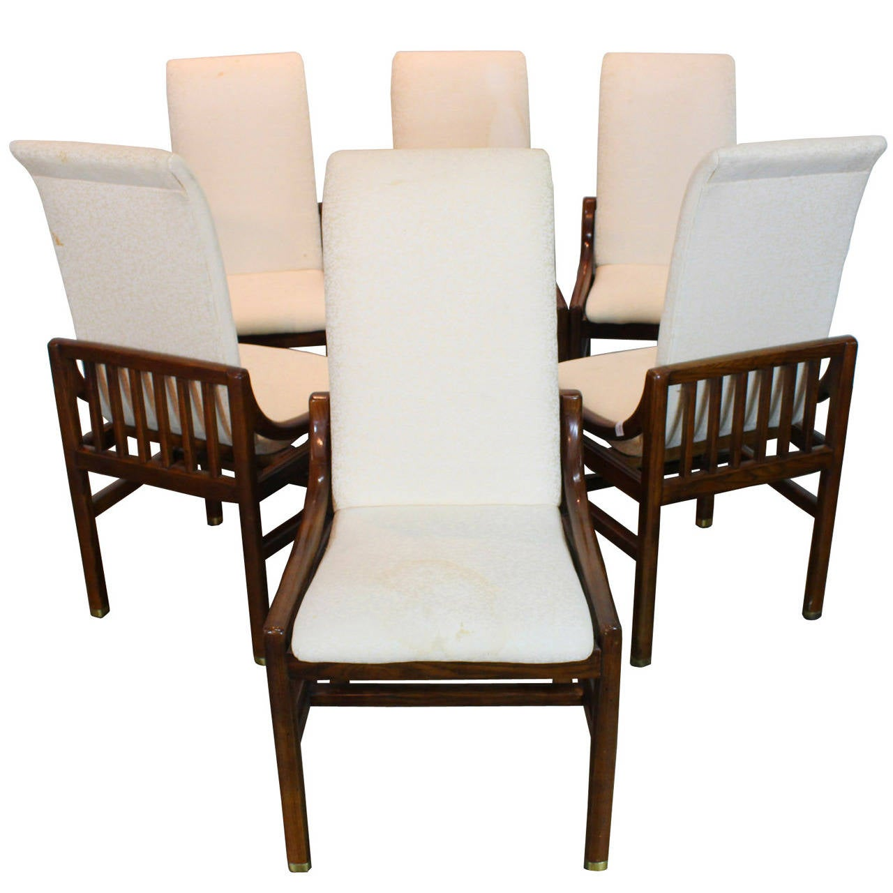Henredon Chair Set Of Six Henredon Dining Chairs In Walnut