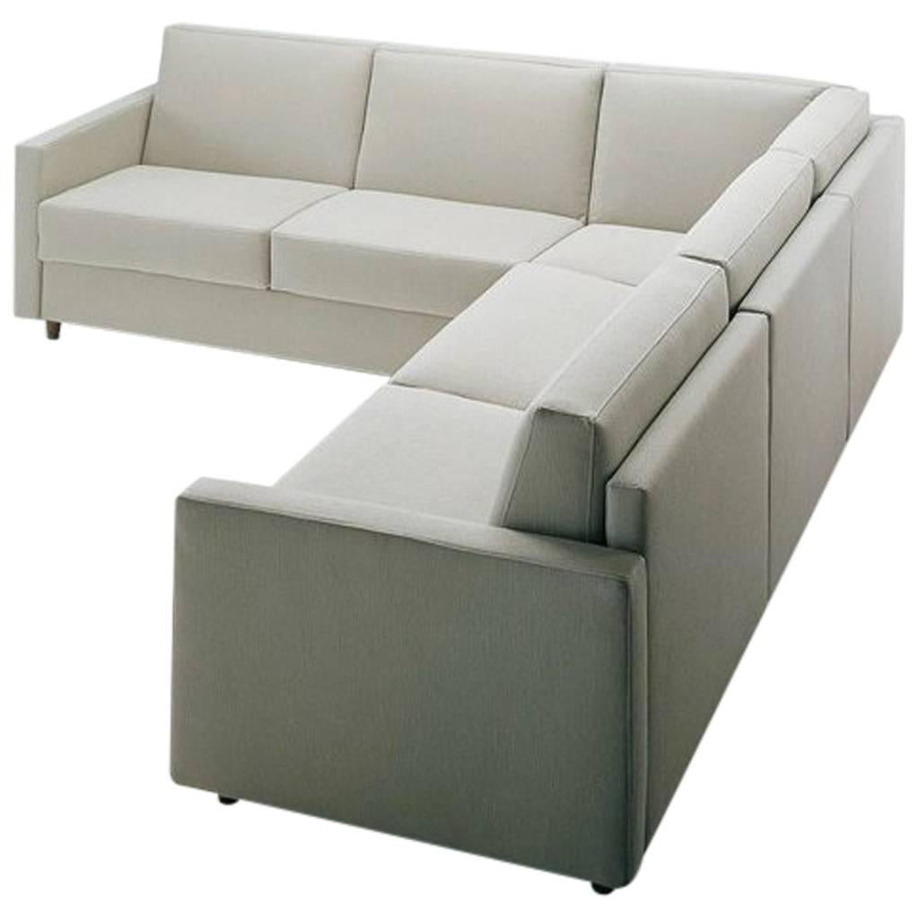 storage sectional sofa bed willow and hall 3 seater modern with ottoman made in italy fabric for sale