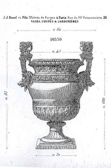 Louis XIV Style Cast Iron Garden Vase For Sale at 1stdibs