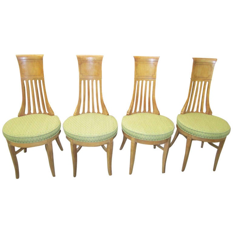 tall back dining chairs adirondack chair templates with plan 4 american modern tomlinson sophisticate mid century for sale