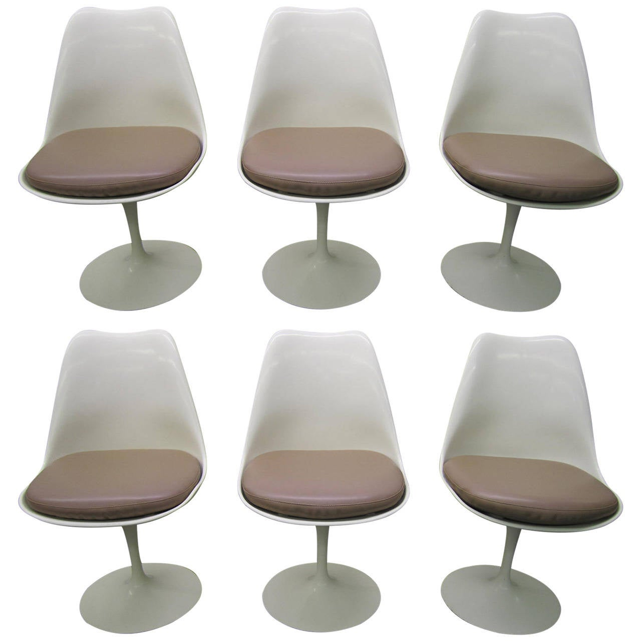 tulip dining room chairs hanging chair ikea six vintage knoll saarinen white swivel