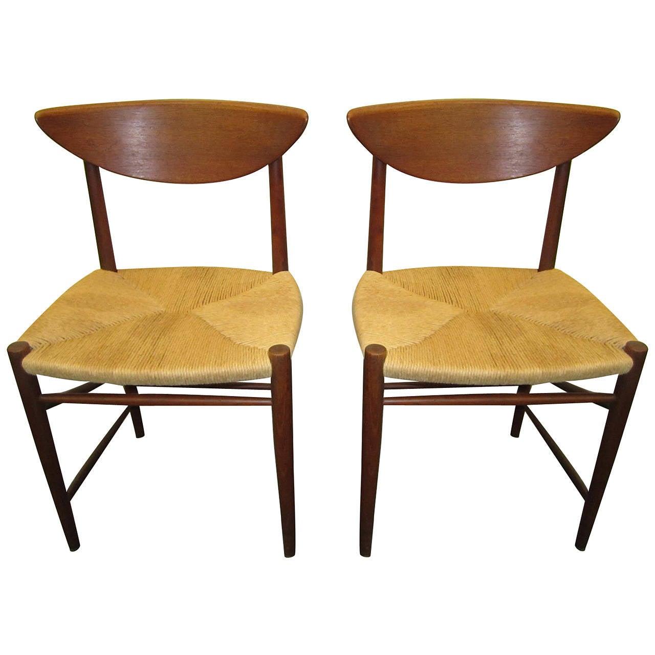 danish modern dining chair adirondack original design pair of hvidt molgaard teak chairs mid century