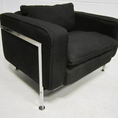 Steel Lounge Chair Good Design Robert Haussmann Stendig Upholstery And
