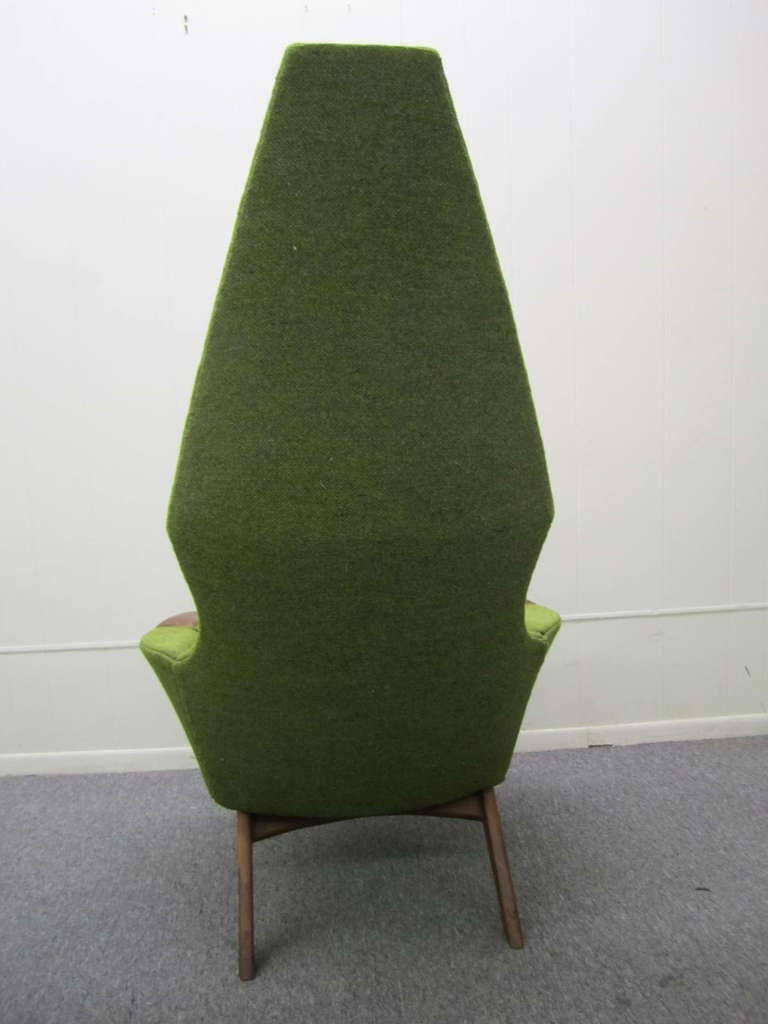 Pair of Adrian Pearsall High Back Chairs Midcentury