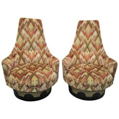 Swivel Chair In Spanish Low Profile Beach High Back Chairs By Adrian Pearsall Mid Century