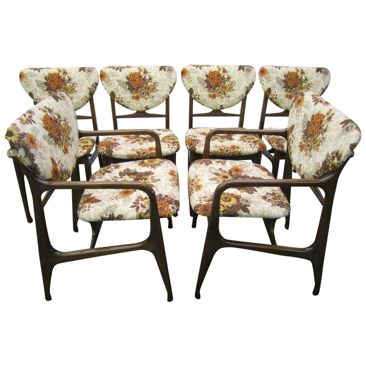Excellent Set Of Six Dining Chairs Mid Century Modern