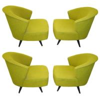 Wonderful Set of Four Mid-Century Kroehler Swivel Chairs ...