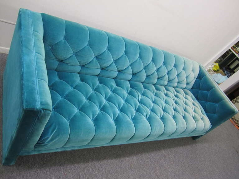 fabric protection for sofas sofa spot remover lovely mid-century modern turquoise tufted tuxedo at ...
