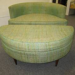 Half Circle Chair High Storage Basket Pair Of Unusual Wide Semi Milo Baughman Style