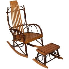 Rocking Chair With Footstool India Folding The Range Amish Bentwood Rocker And At 1stdibs