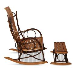 Rocking Chair With Footstool India Baby Trend High Cover Amish Bentwood Rocker And At 1stdibs