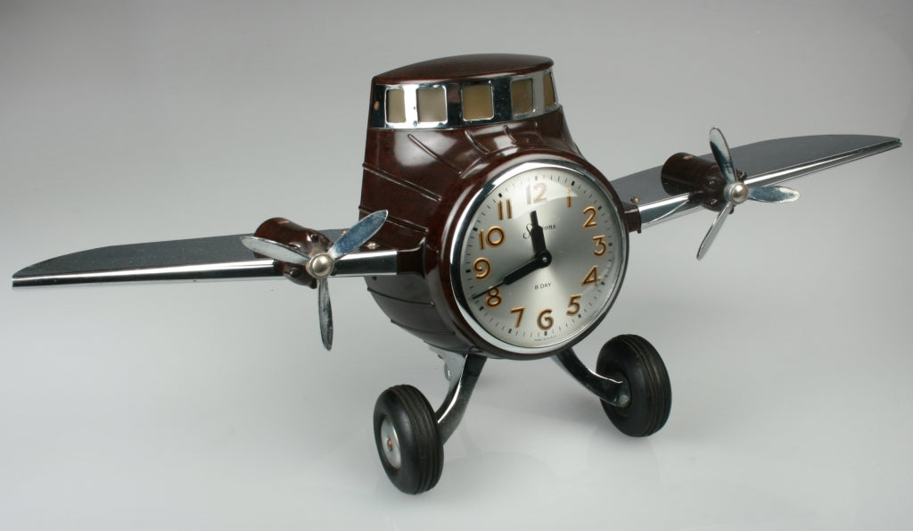 MasterCrafters 8 Day Sessions Airplane Clock at 1stdibs