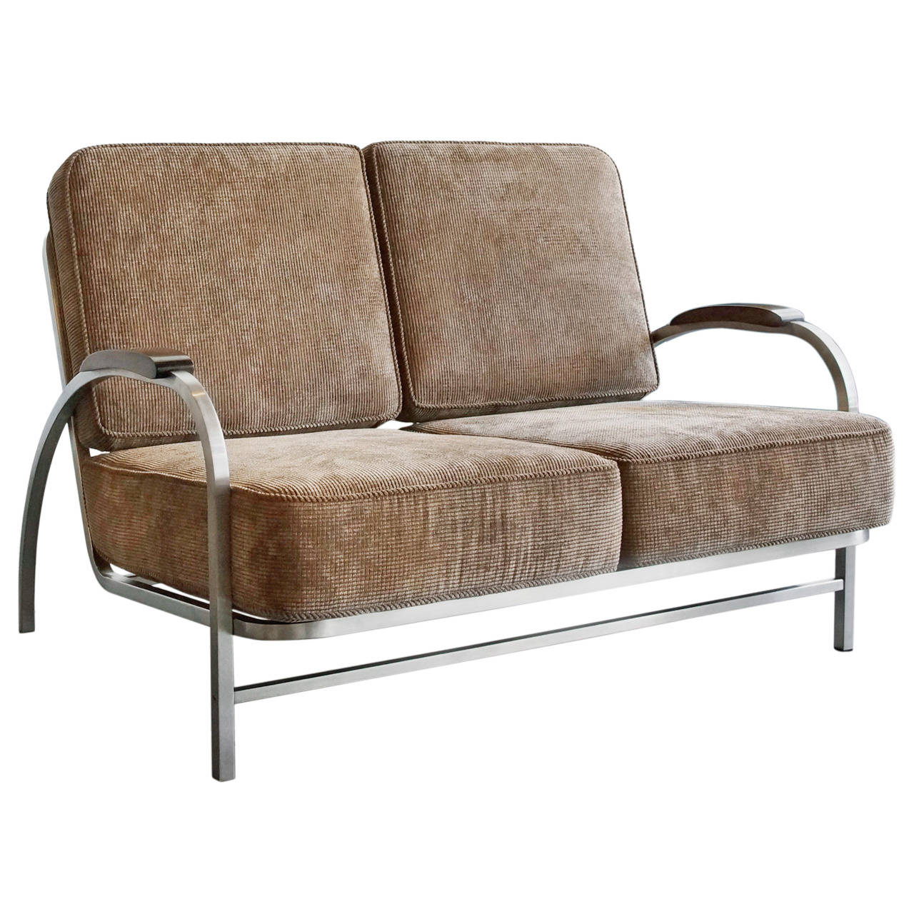 retro sofas fulham black chesterfield sofa melbourne style 2 seater natural fabric