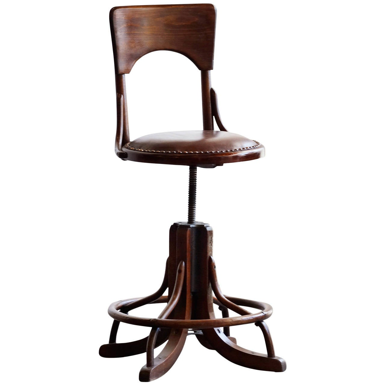 Stool Chair Antique Wood Drafting Stool Circa 1890s At 1stdibs