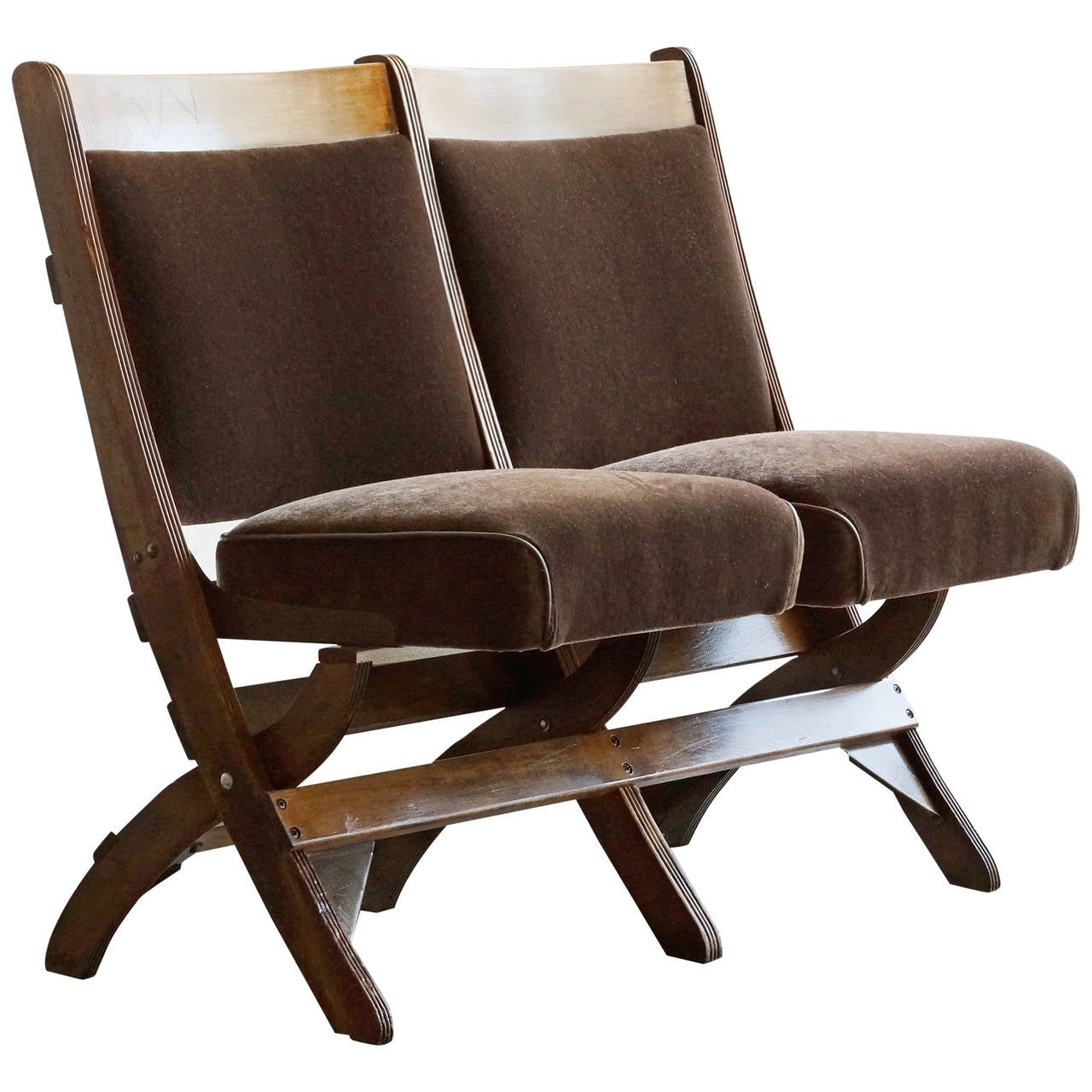movie chairs for sale cafeteria tables with attached art deco theater seats refinished at 1stdibs