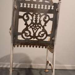 Folding Chair No Arms Steelcase American Victorian Cast Iron Garden At 1stdibs
