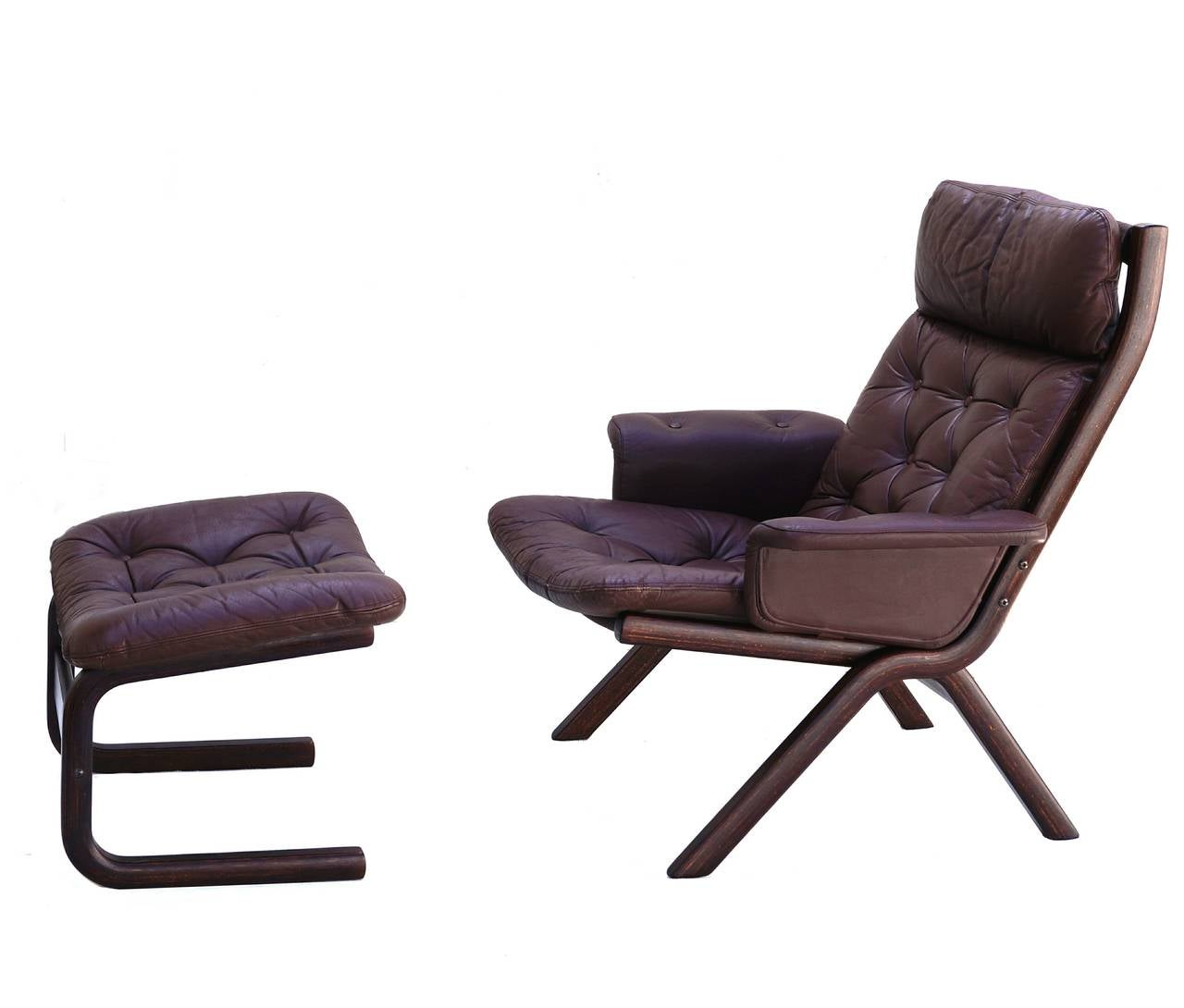 leather sling chairs small lounge danish modern sculptural chair and