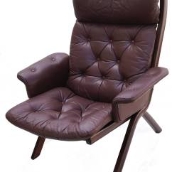 Leather Sling Chairs Childs Desk Chair Danish Modern Sculptural Lounge And
