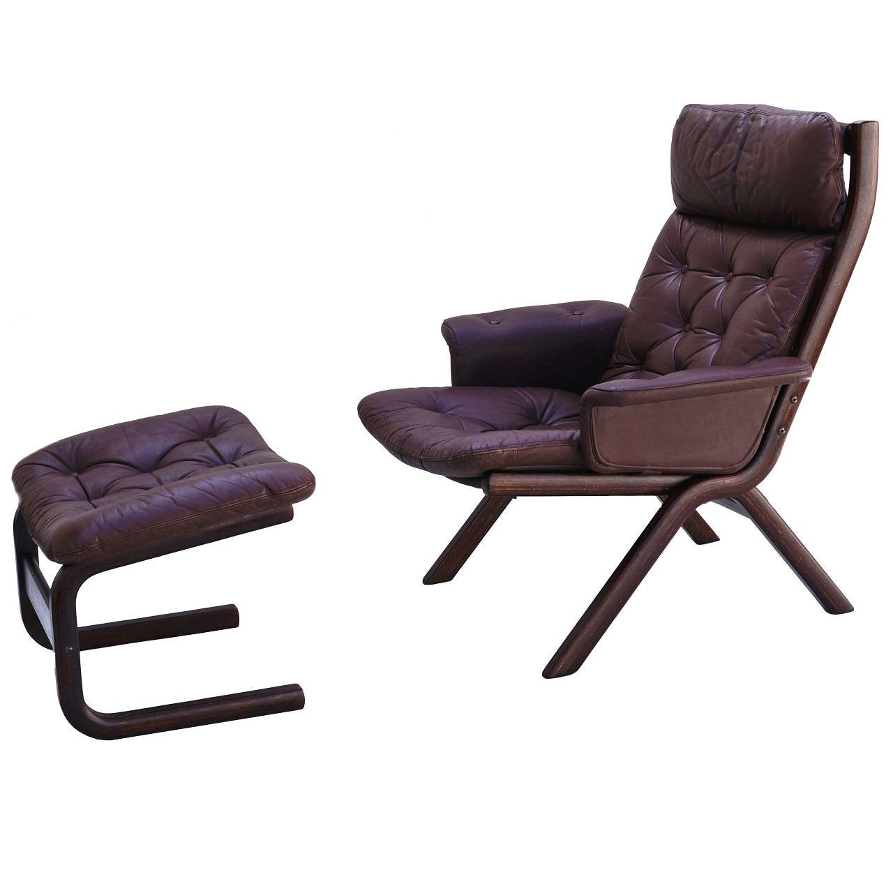 leather chair modern covers cork danish sculptural sling lounge and