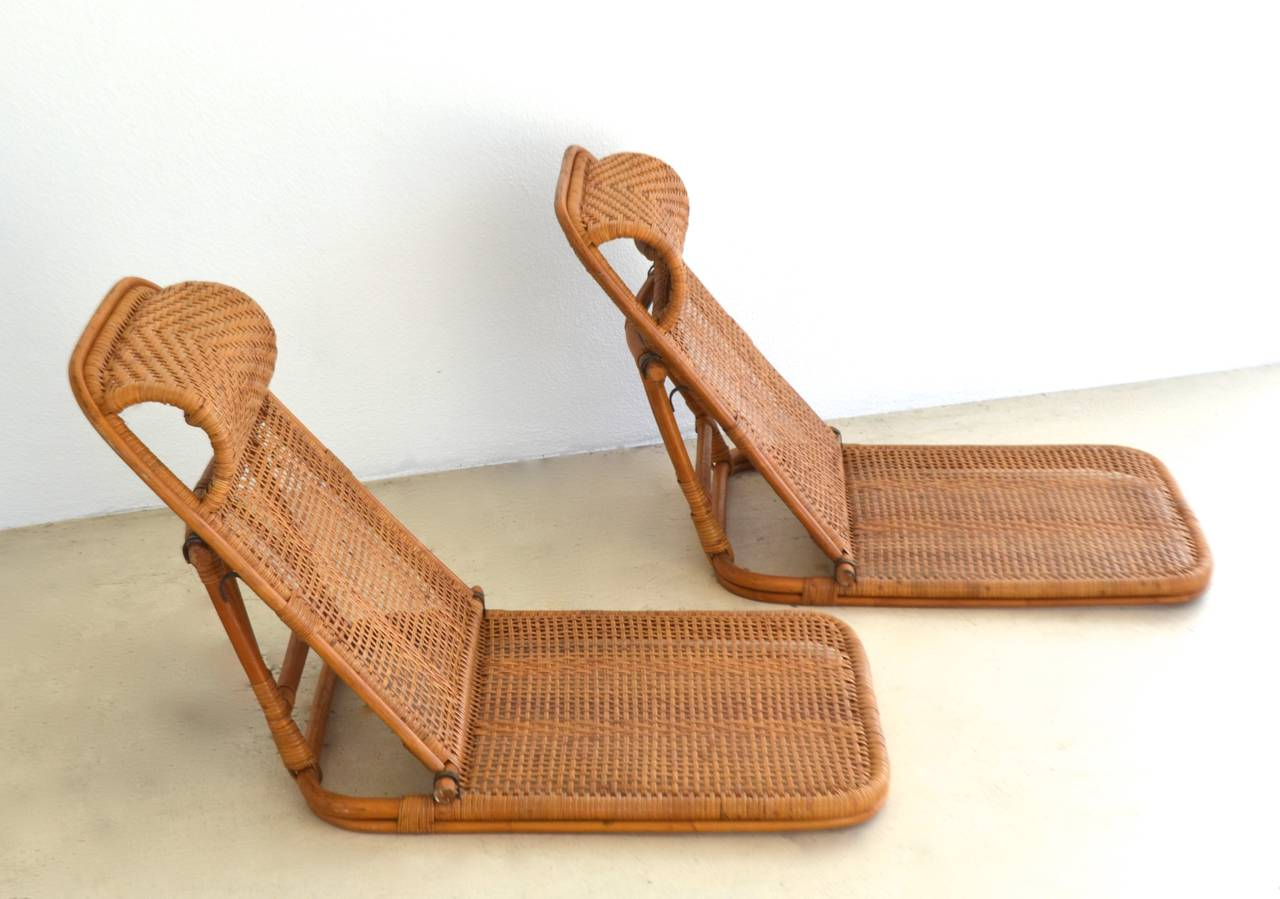 wood beach chairs damask dining chair covers mid century rattan and bamboo at 1stdibs in excellent condition for sale west palm