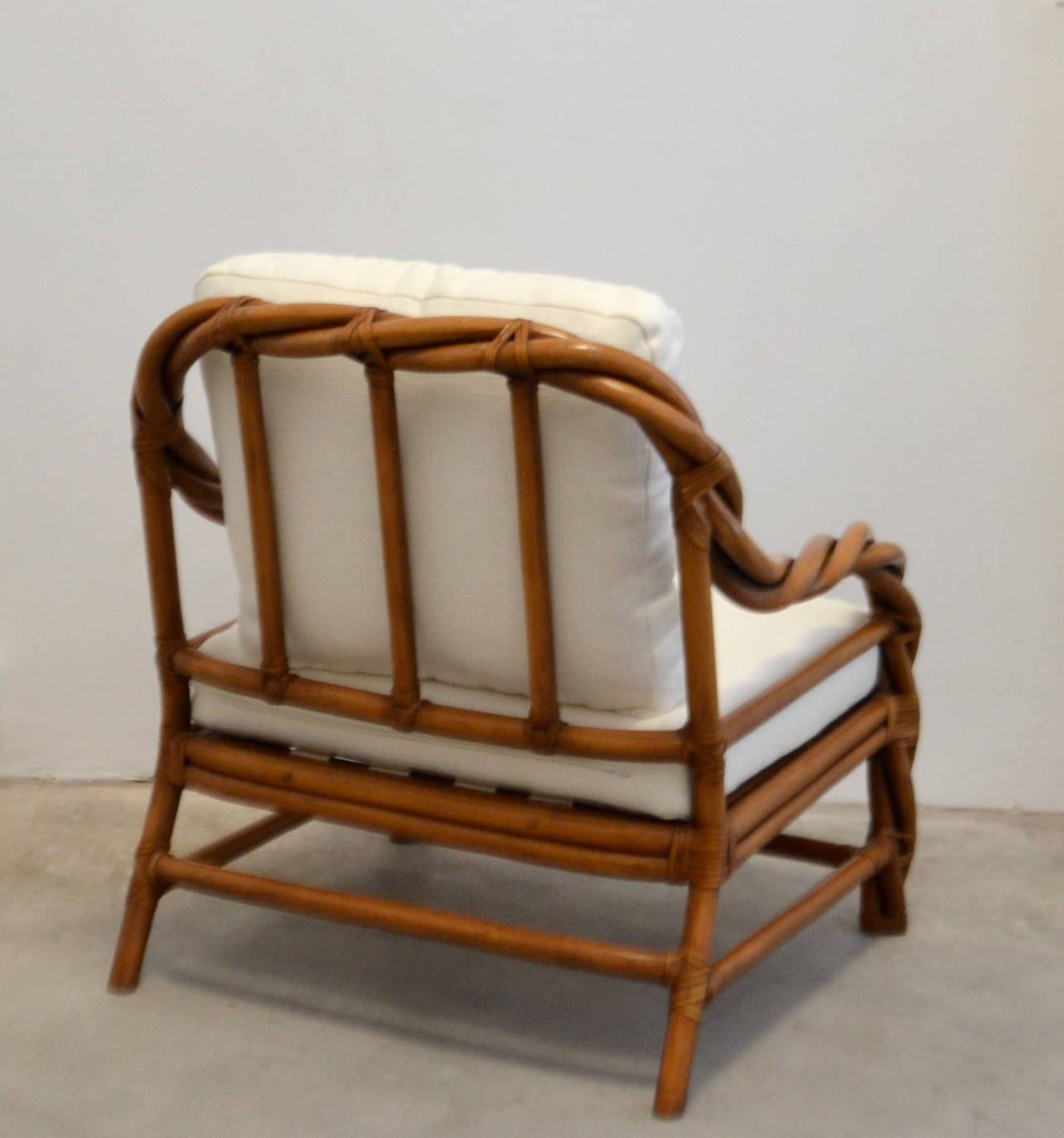 wicker chairs with ottoman underneath the chair shane dawson rattan club and at 1stdibs