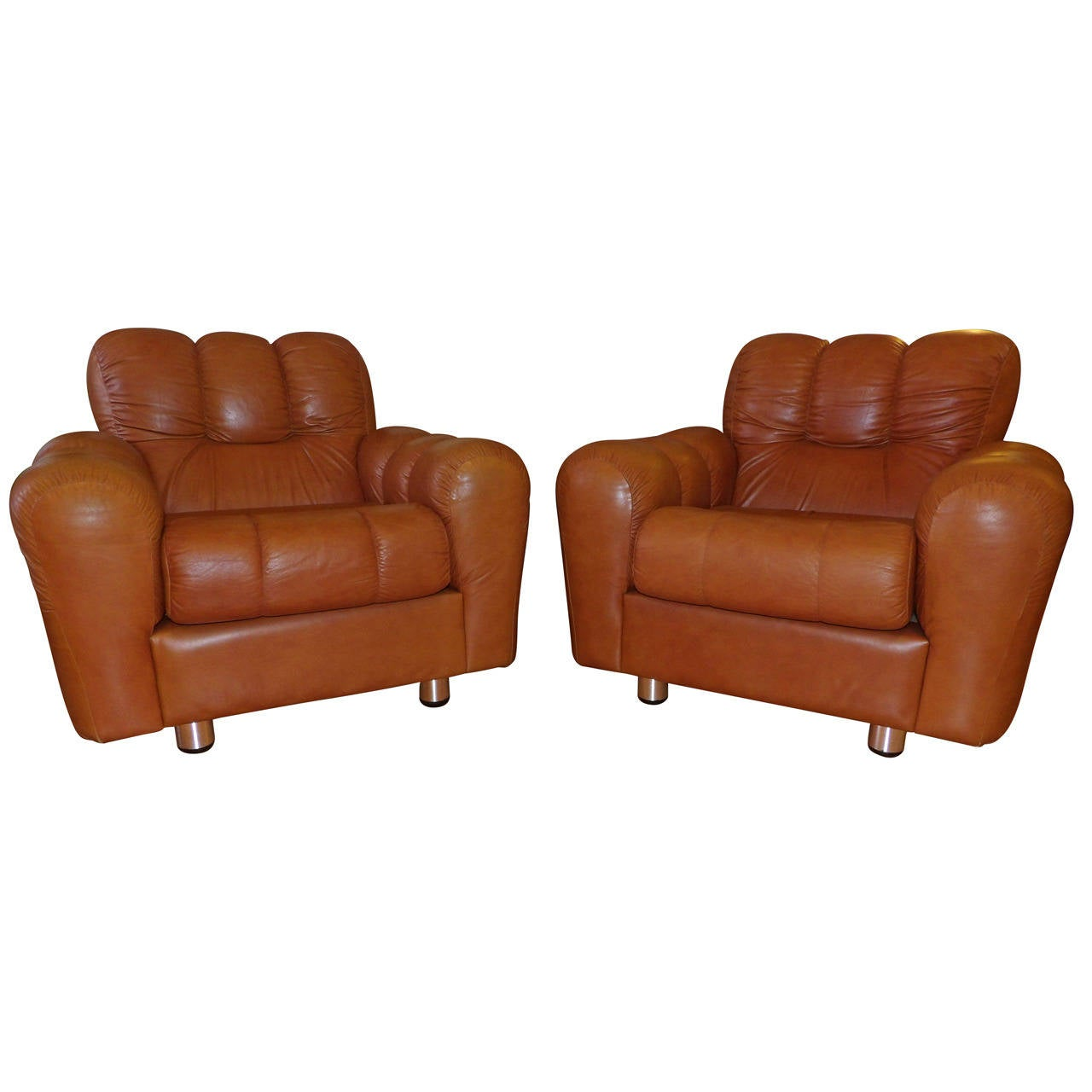 large lounge chair antique bentwood chairs pair of oversized leather at 1stdibs