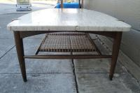 Travertine Coffee Table by Dux Furniture at 1stdibs