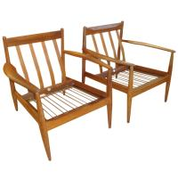 Teak Lounge Chairs Designed by Grete Jalk at 1stdibs